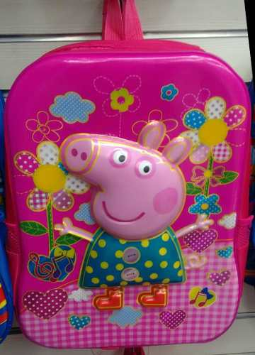 Bolso Morral Escolar Peppa Alto Relieve 3d + Obsequió