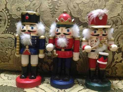 Cascanueces De Soldado De Madera 15 Cm. Para Navidad