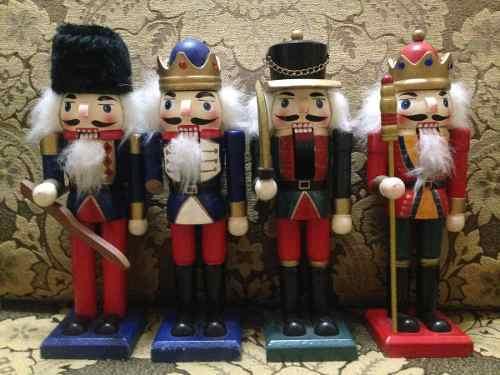 Cascanueces De Soldado De Madera 20 Cm. Para Navidad
