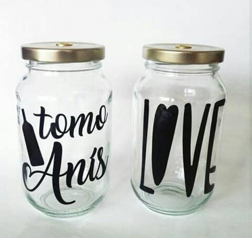 Frasco De Vidrio Personalizados Mason Jars Detalles Regalos