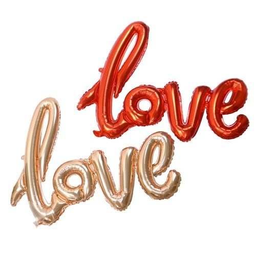 Globos Metalizados Love Amor Enamorados San Valentin Regalos