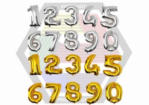 Globos Numeros Metalizados 40cms Solo Al Mayor 310
