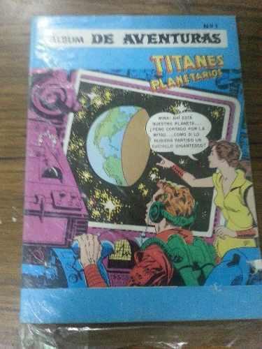 Gran Álbum Titanes Planetarios De Editorial Novaro.