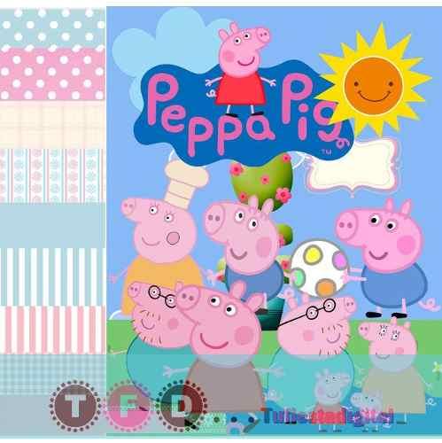 Kit Imprimible Fondos Pepa Pig Papel Digital Clipart George