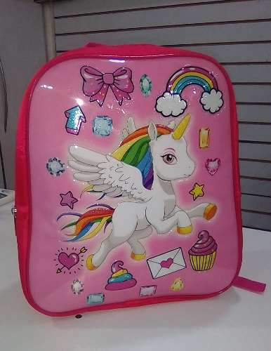 Morral Bolso Escolar Unicornio Importado + Obsequio