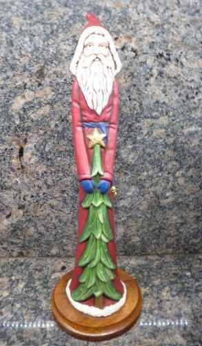 Santa Claus / Espiritu De La Navidad Relieve Base Madera