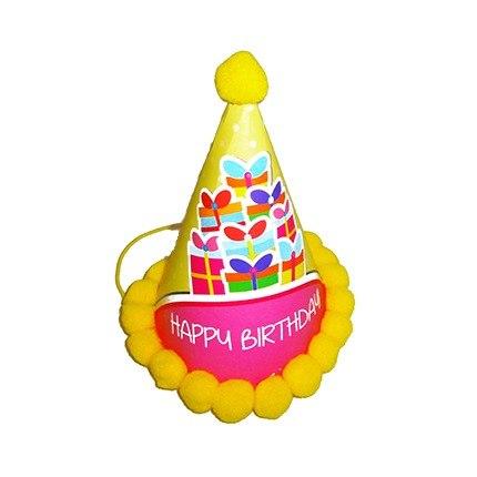Sombrero Con Forma De Cono P/fiestas Hora Loca