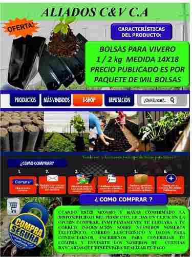 Bolsas Para Vivero 14x18 De 1/2 Kg X 100 U Somos Fabricantes