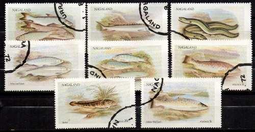 Lag Estampillas Nagaland  Serie Completa