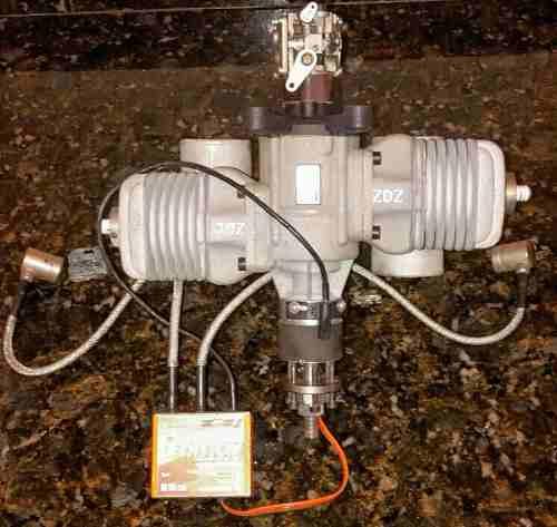Motor A Gasolina Zdz De 100 Cc Bicilindrico Para Avión