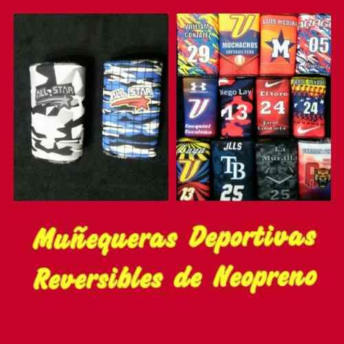 Muñequeras Deportivas Reversibles De Neopreno Para Béisbol