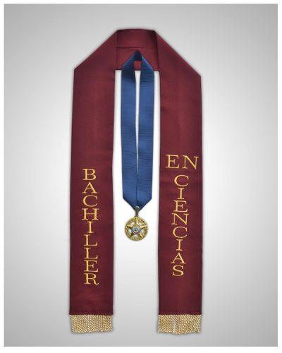 Paquetes De Graduacion. Estolas Bordadas Y Medallas 5 Puntas