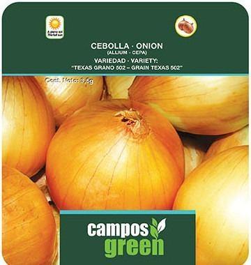 Semilla De Cebolla Certificada Texas Variedad Grano 502
