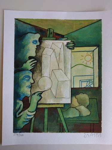 Serigrafia Original De Pedro Leon Zapata