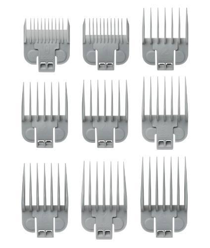 Andis Barberia Juego De 9 Peines Plasticos Para Máquinas