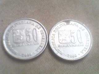 Antigua Moneda Venezolana De 50 Bolívares De