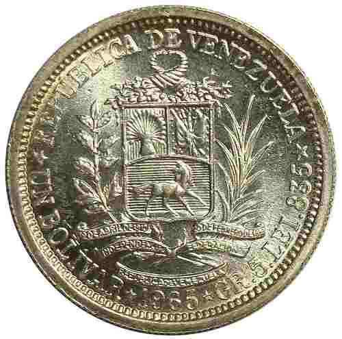 Bolivar Moneda De Plata De Venezuela De