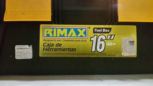 Caja De Herramientas Rimax De 16 Pulgadas / 40 Cm (usada)