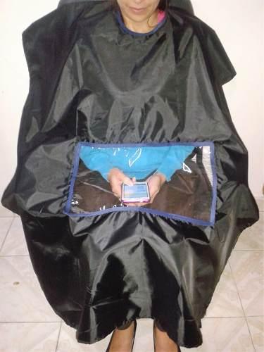 Capas Para Corte De Cabello Con Visor (tela Impermeable)