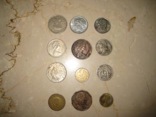 Colección De 12 Monedas Antiguas