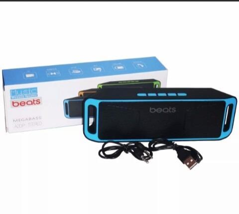 Corneta Beats 208 Portatil Bluetooth Usb Pendrive Sd Aux