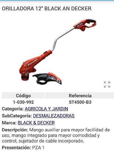 Desmalezadora Orilladora Electrica De 12 Blackandecker