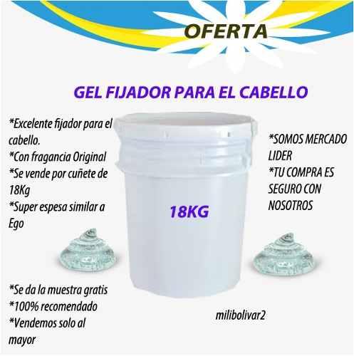 Gel Fijador Para El Cabello A Granel 18kg 100% Calidad