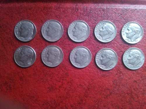 Lote De Monedas One Dime Años