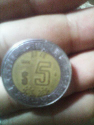 Moneda Antigua $5 Estados Unido De Mexico