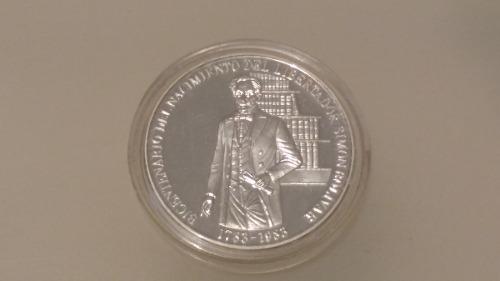 Moneda Bicentenario Natalicio Libertador Simón Bolívar