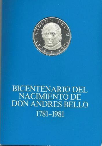 Moneda Conmemorativa Bicentenario Nacimiento Andres Bello