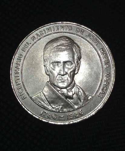 Moneda Conmemorativa Del Bicentenario De José María Vargas
