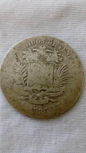 Moneda De 2 Bolívares De Plata De