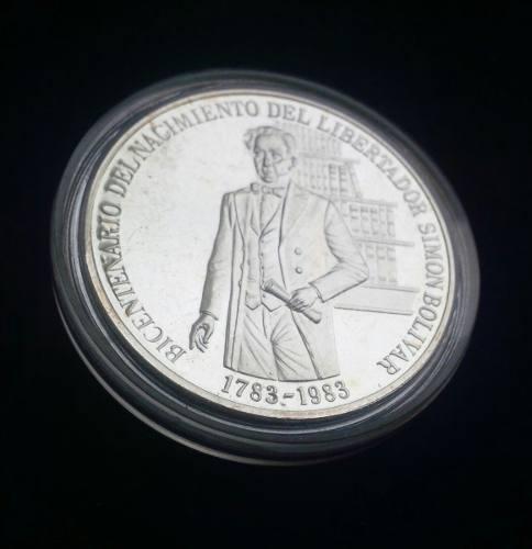 Moneda De Plata Bicentenario De Jose Maria Varga Con Estuche