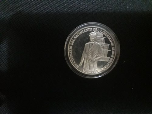 Moneda De Plata Bicentenario De Simon Bolivar