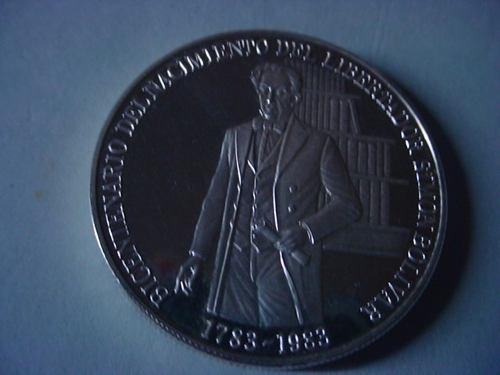 Moneda De Plata Bicentenario Del Libertador