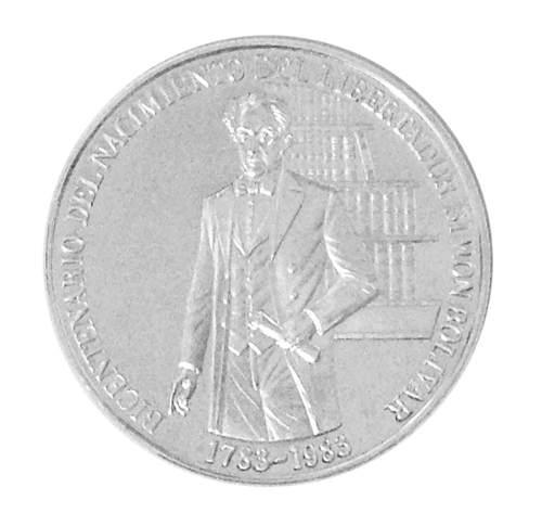 Moneda De Plata Bicentenario Nacimiento Del Libertador