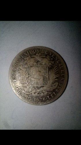 Moneda De Plata De 1 Bolívar Año  Coleccionable