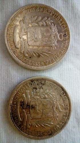 Moneda De Plata De 2 Bolívares