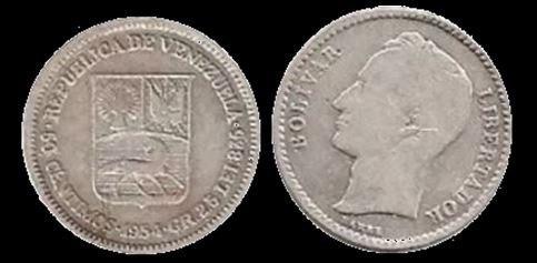Moneda De Plata De 25 Centimos De  (medio)