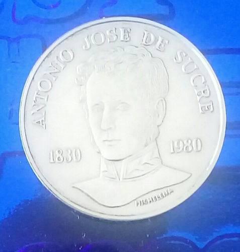 Moneda De Plata De 75 Bs Conmemorativa Antonio Jose De Sucre