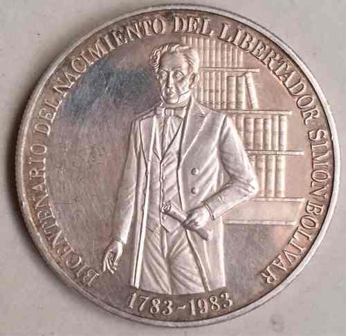 Moneda De Plata Del Bicentenario Del Nacimiento Libertador
