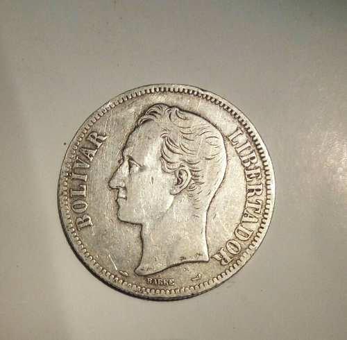 Moneda Venezolana De Plata Año