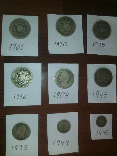 Monedas De Plata De Diferentes Años