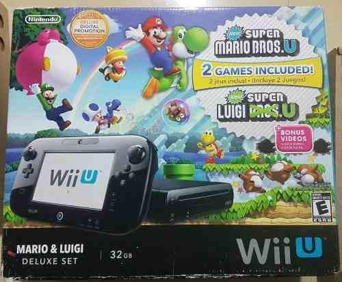 Nintendo Wii U 32gb Deluxe Set Chip.. 8 Juegos Originales
