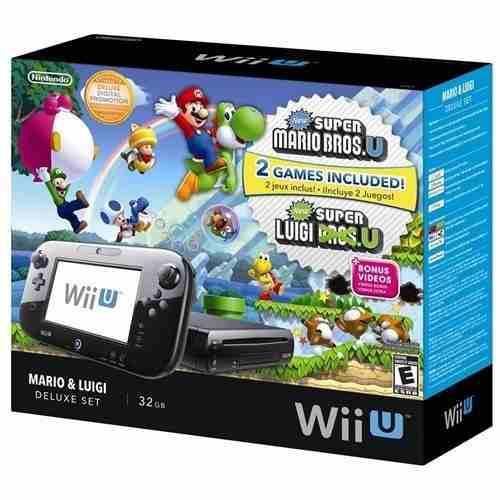Nintendo Wii U De 32 Gb Mario Bros U Deluxe Set Nue