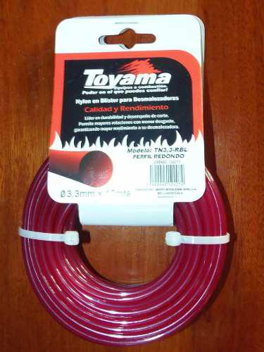 Nylon Desmalezadora Redondo Toyama 3.3mm X 10m