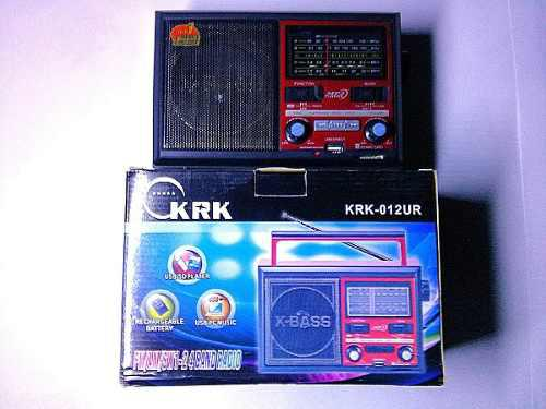 Radio Reproductor Portátil Recargable Fm Usb Sd Aux Sop46