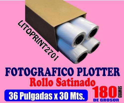 Rollo Papel Fotográfico Para Plotter Hp, Epson, Canon