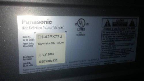 Tv Plasma Panasonic De 42 Pulgs